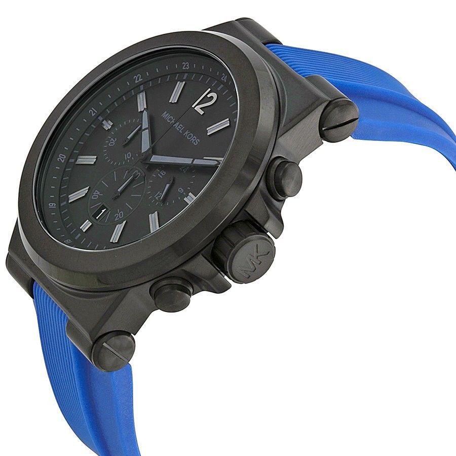 new michael kors mens blue silicone black